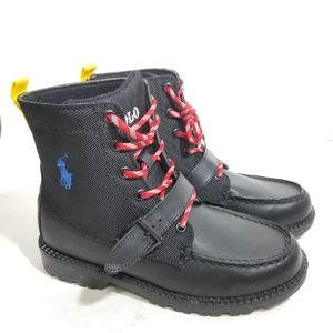 Polo Ralph Lauren Leather Boots Boys Size 3.5 New